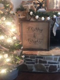 Merry & Bright (burlap)